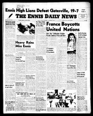 Primary view of object titled 'The Ennis Daily News (Ennis, Tex.), Vol. 64, No. 232, Ed. 1 Saturday, October 1, 1955'.