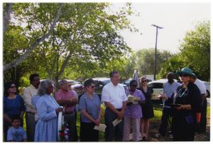 Dedication of Marker for Saint Rose Cemetery in Beeville, Texas