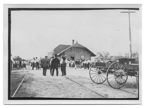 Primary view of object titled 'Railroad Depot in Bee Country'.