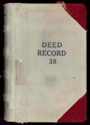 Primary view of object titled 'Travis County Deed Records: Deed Record 38'.