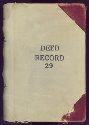 Primary view of object titled 'Travis County Deed Records: Deed Record 29'.