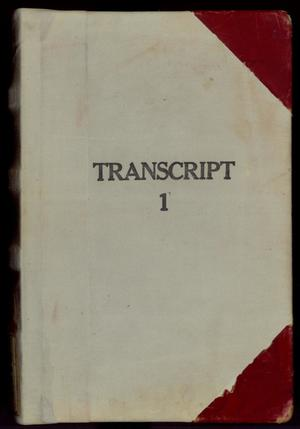Primary view of object titled 'Travis County Deed Records: Deed Record Transcript 1'.