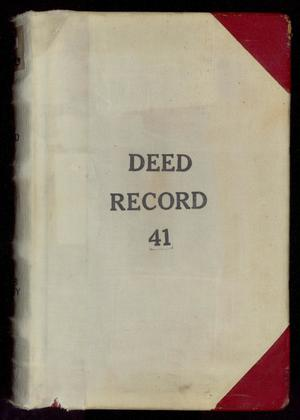 Primary view of object titled 'Travis County Deed Records: Deed Record 41'.