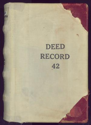 Primary view of object titled 'Travis County Deed Records: Deed Record 42'.