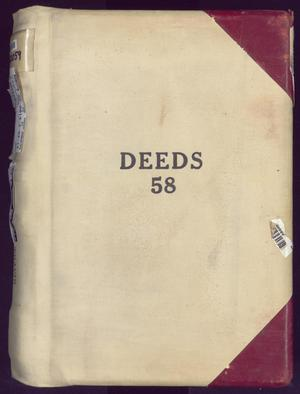 Primary view of object titled 'Travis County Deed Records: Deed Record 58'.