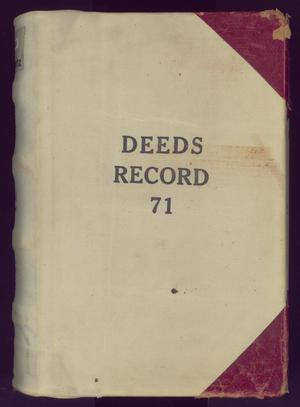 Primary view of object titled 'Travis County Deed Records: Deed Record 71'.