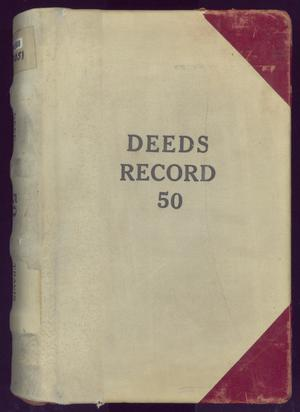 Primary view of object titled 'Travis County Deed Records: Deed Record 50'.