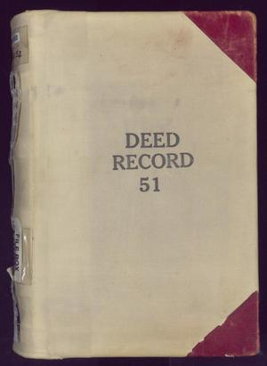 Primary view of object titled 'Travis County Deed Records: Deed Record 51'.