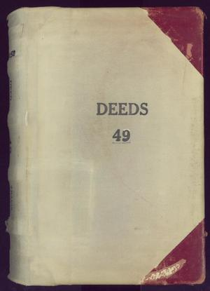 Primary view of object titled 'Travis County Deed Records: Deed Record 49'.
