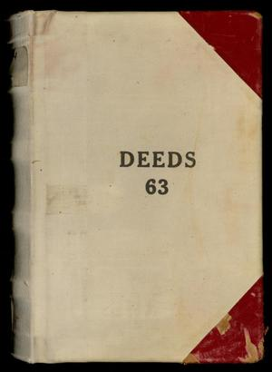 Primary view of object titled 'Travis County Deed Records: Deed Record 63'.