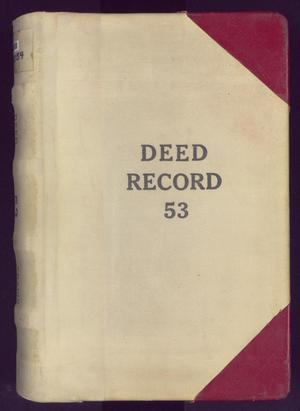 Primary view of object titled 'Travis County Deed Records: Deed Record 53'.