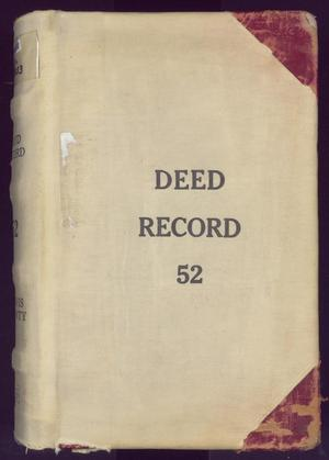 Primary view of object titled 'Travis County Deed Records: Deed Record 52'.