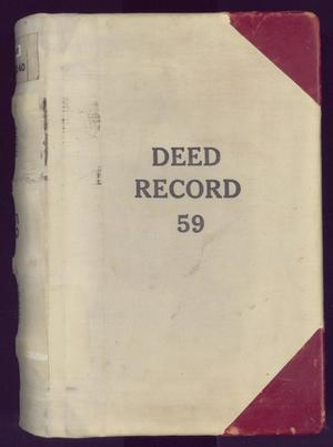 Primary view of object titled 'Travis County Deed Records: Deed Record 59'.