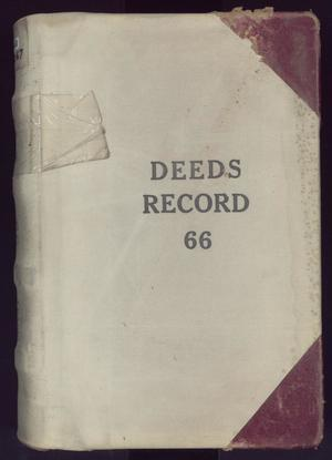 Primary view of object titled 'Travis County Deed Records: Deed Record 66'.