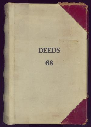 Primary view of object titled 'Travis County Deed Records: Deed Record 68'.