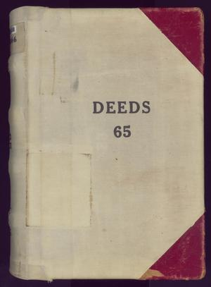Primary view of object titled 'Travis County Deed Records: Deed Record 65'.