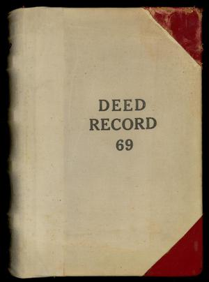Primary view of object titled 'Travis County Deed Records: Deed Record 69'.