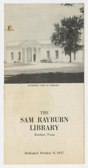 Primary view of object titled 'The Sam Rayburn Library, Bonham, Texas, Dedicated October 9, 1957'.