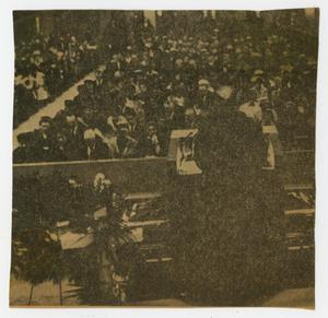 [Newspaper Clipping of two photos from Sam Rayburn's funeral]