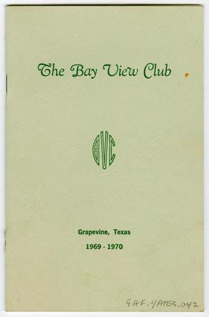 Primary view of object titled '[Calendar of Events for the Bay View Club During 1969-1970]'.