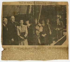 Primary view of object titled '[Newspaper Clipping: When SS William M. Rayburn was Launched]'.