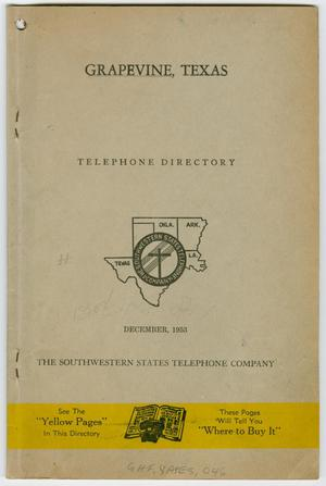 Primary view of object titled '[Grapevine Telephone Directory, 1953]'.