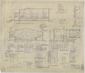 Primary view of object titled 'High School Gymnasium, Ozona, Texas: Sections and Details'.