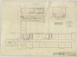 Primary view of object titled 'High School Building, Pecos, Texas: Floor Plan'.