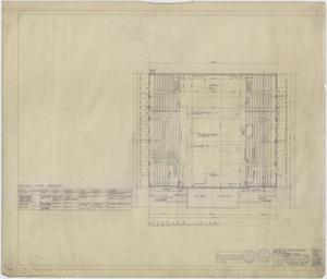 Primary view of object titled 'High School Gymnasium, Ozona, Texas:  Bleacher Plan'.