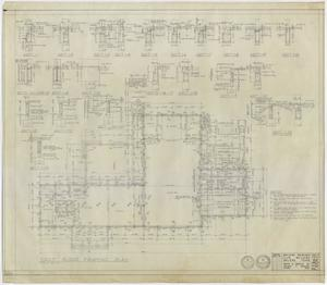 Primary view of object titled 'Abilene Womans Club Building, Abilene, Texas: First Floor Framing Plan'.