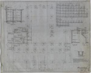 Primary view of object titled 'High School Building, Rotan, Texas: Footing and Basement Framing Plan'.