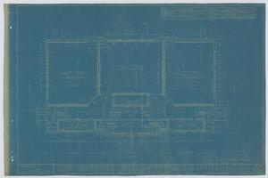 Primary view of object titled 'School Building/Auditorium, Oplin, Texas: Ground Floor Plan'.