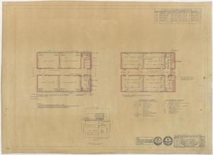 Primary view of object titled 'High School Building, Pecos, Texas: Plumbing, Heating, and Electrical Floor Plans'.
