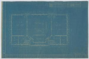 Primary view of object titled 'School Building/Auditorium, Oplin, Texas: Second Floor Plan'.