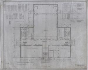 Primary view of object titled 'High School Building, Rotan, Texas: First Floor Plan'.