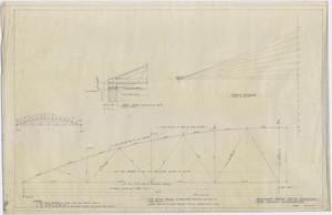 Primary view of object titled 'High School Gymnasium, Ozona, Texas: Proposed Roof Truss Revision'.