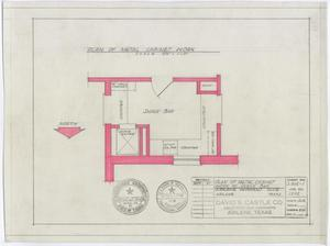 Primary view of object titled 'Abilene Womans Club Building, Abilene, Texas: Snack Bar Plan'.