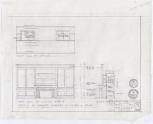 Primary view of object titled 'Abilene Womans Club Building, Abilene, Texas: Details of Cabinet Changes in Living Room and Offices'.
