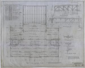 Primary view of object titled 'High School Building, Rotan, Texas: Third Floor Framing Plan'.