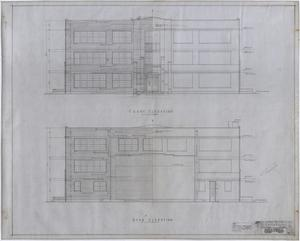 Primary view of object titled 'High School Building, Rotan, Texas: Elevations'.