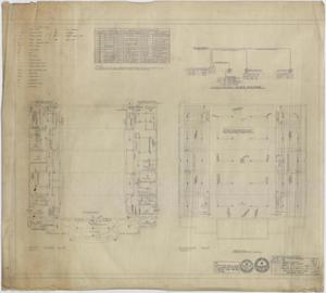 Primary view of object titled 'High School Gymnasium, Ozona, Texas: First Floor Electrical Plan'.