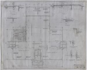 Primary view of object titled 'High School Building, Rotan, Texas: First Floor Framing Plan'.