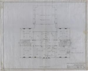 Primary view of object titled 'High School Building, Rotan, Texas: Second Floor Mechanical Plan'.