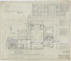 Primary view of object titled 'Abilene Womans Club Building, Abilene, Texas: First Floor Plan'.