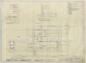 Primary view of object titled 'High School Building, Pecos, Texas: Index and Plot Plan'.