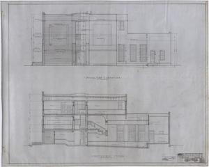 Primary view of object titled 'High School Building, Rotan, Texas: Elevation and Section'.