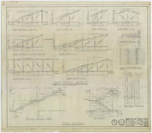 Primary view of object titled 'Abilene Womans Club Building, Abilene, Texas: Roof Truss and Stair Diagrams'.