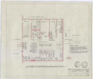 Primary view of object titled 'Abilene Womans Club Building, Abilene, Texas: Kitchen Floor Plan'.