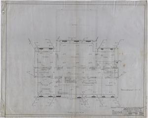 Primary view of object titled 'High School Building, Rotan, Texas: Third Floor Mechanical Plan'.