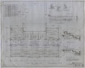 Primary view of object titled 'High School Building, Rotan, Texas: Second Floor Framing Plan'.